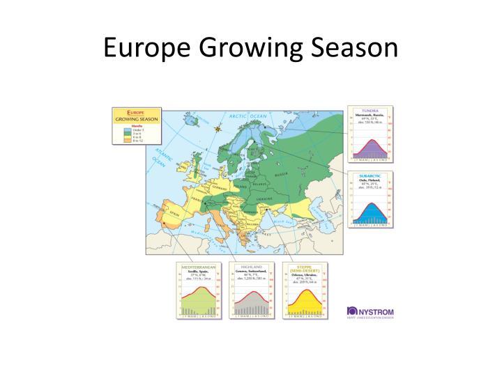 Europe Growing Season