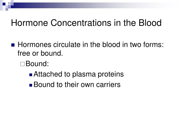 Hormone Concentrations in the Blood