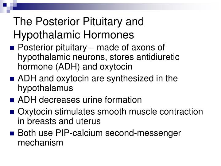The Posterior Pituitary and Hypothalamic Hormones