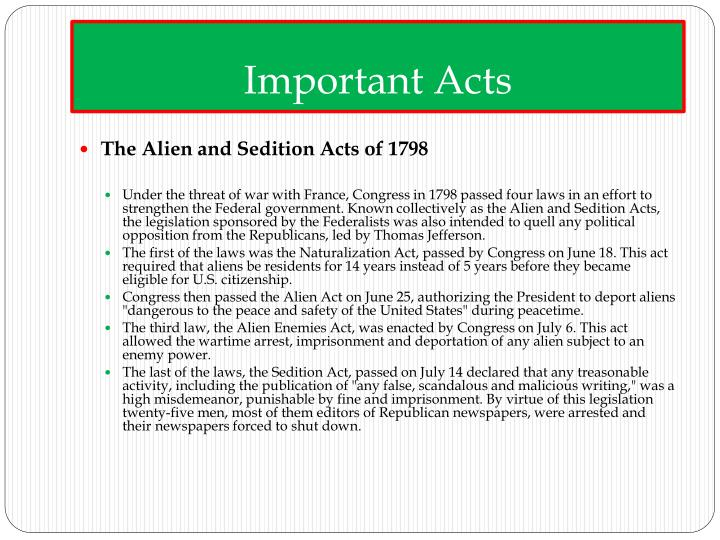 Important Acts