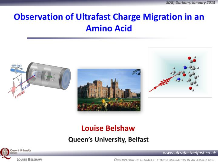 Observation of Ultrafast Charge Migration in an Amino Acid