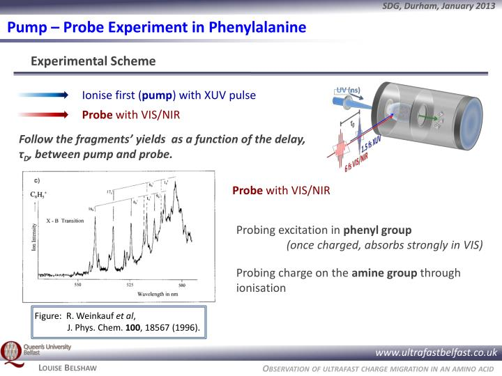 Pump – Probe Experiment in Phenylalanine