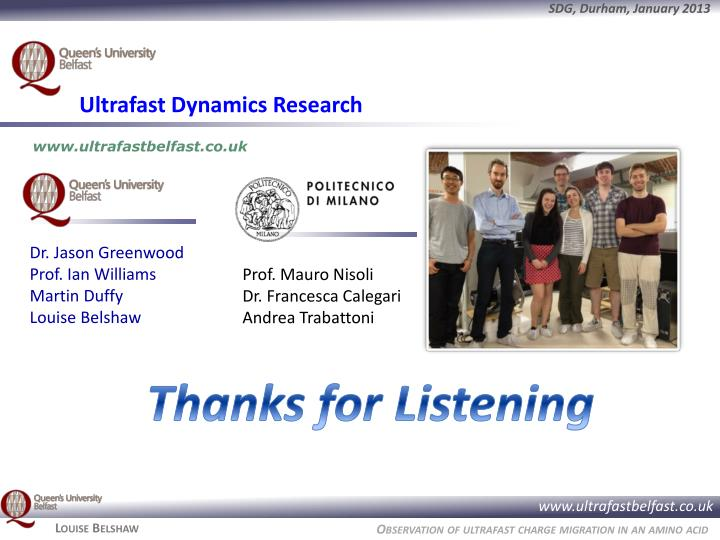 Ultrafast Dynamics Research