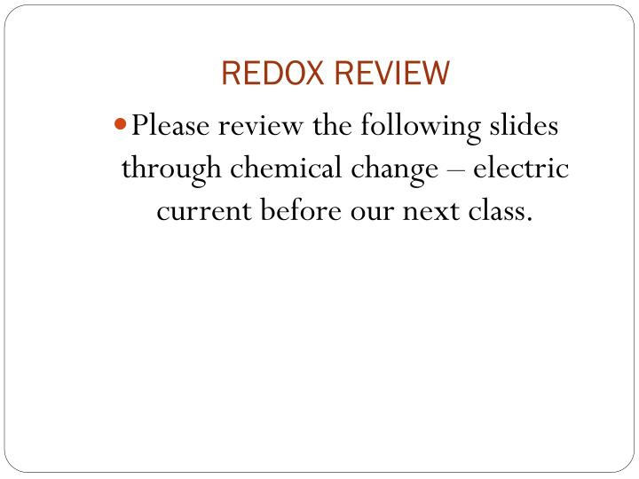Redox review
