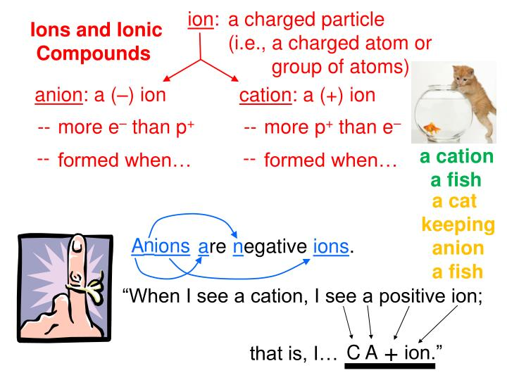 When i see a cation i see a positive ion