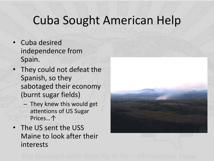 Cuba Sought American Help