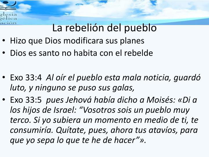 La rebelión del pueblo
