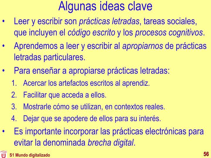 Algunas ideas clave