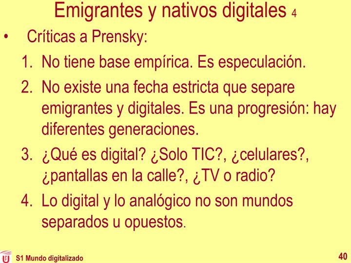 Emigrantes y nativos digitales