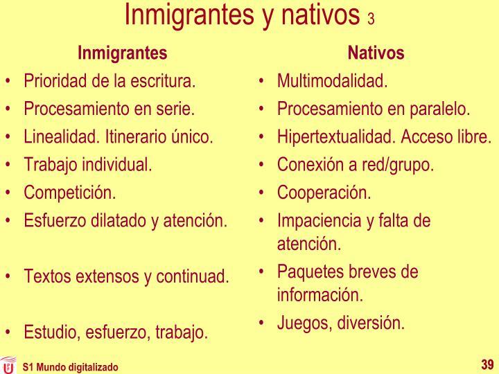 Inmigrantes y nativos