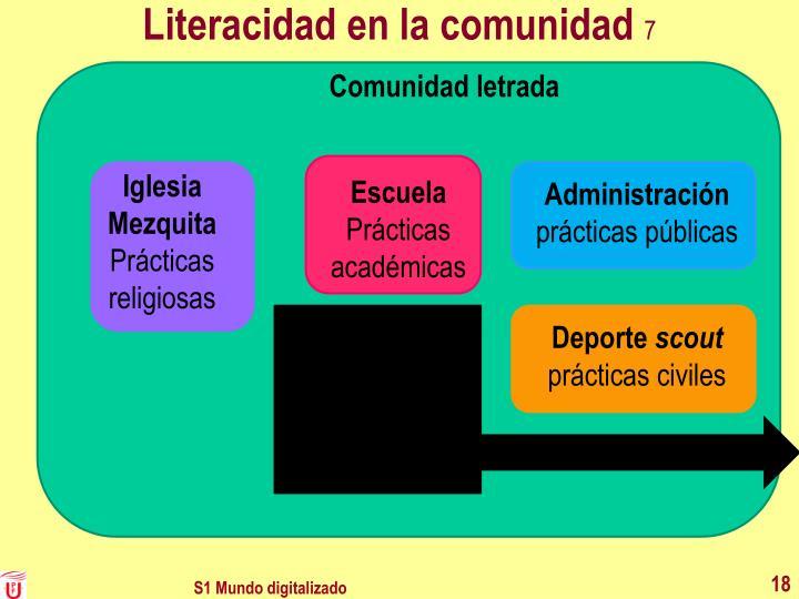 Literacidad en la comunidad