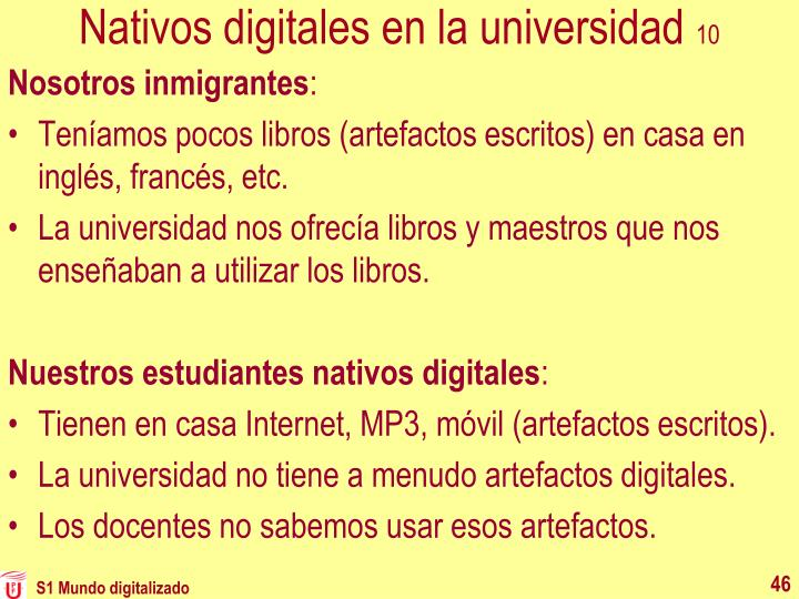 Nativos digitales en la universidad