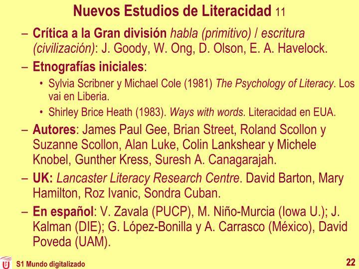 Nuevos Estudios de Literacidad