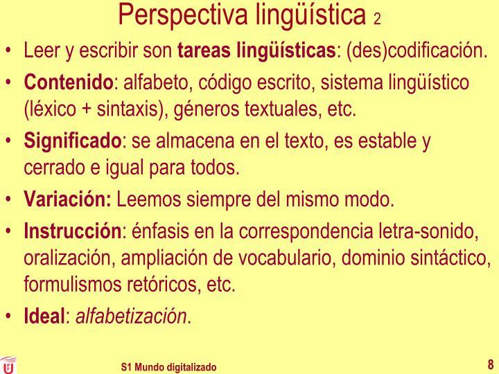 Perspectiva lingüística