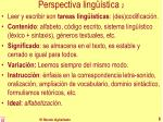 perspectiva ling stica 2