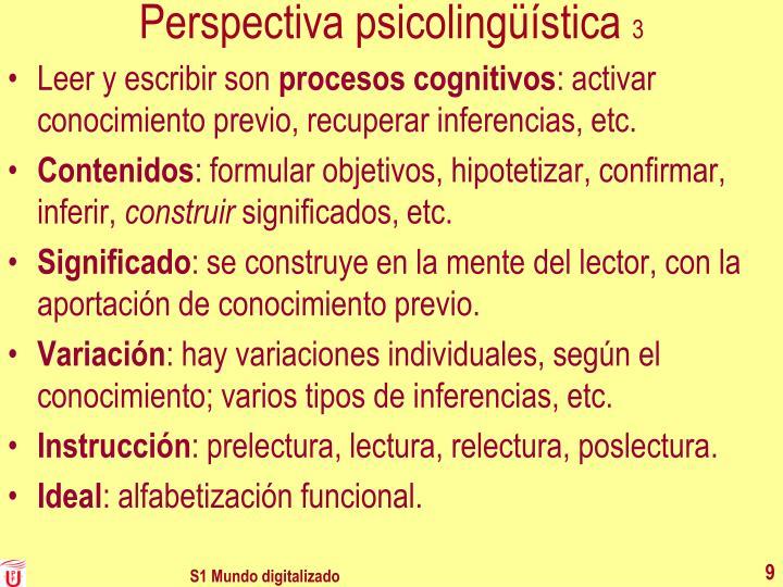 Perspectiva psicolingüística