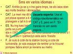 sms en varios idiomas 5