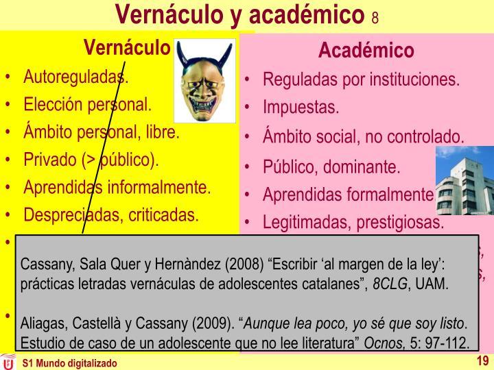 Vernáculo y académico