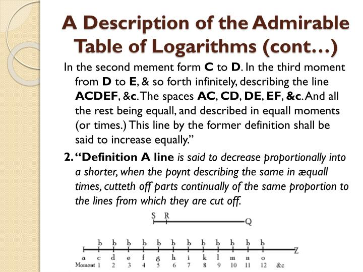A Description of the Admirable Table of