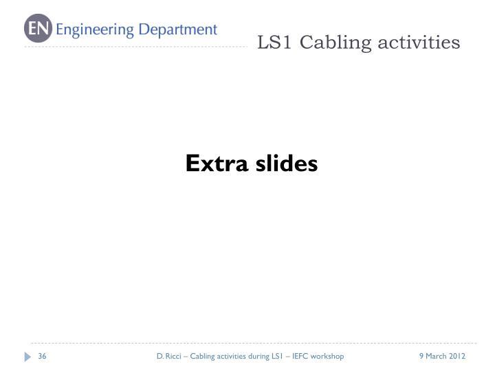 LS1 Cabling activities