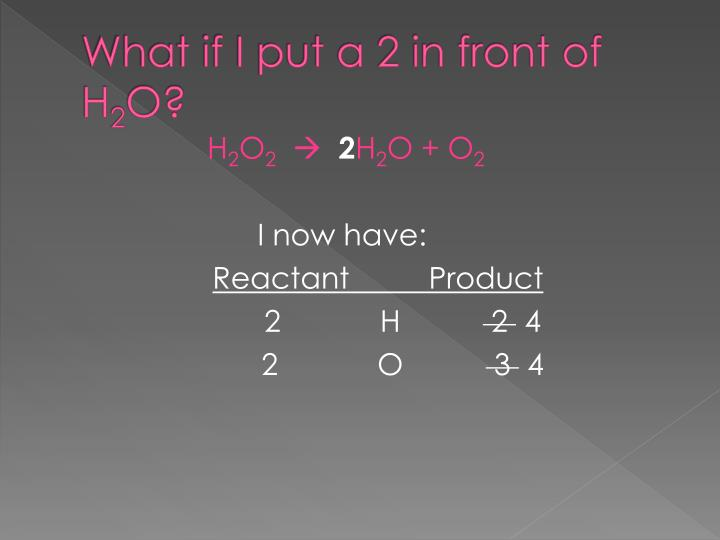 What if I put a 2 in front of H