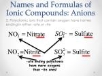 names and formulas of ionic compounds anions1