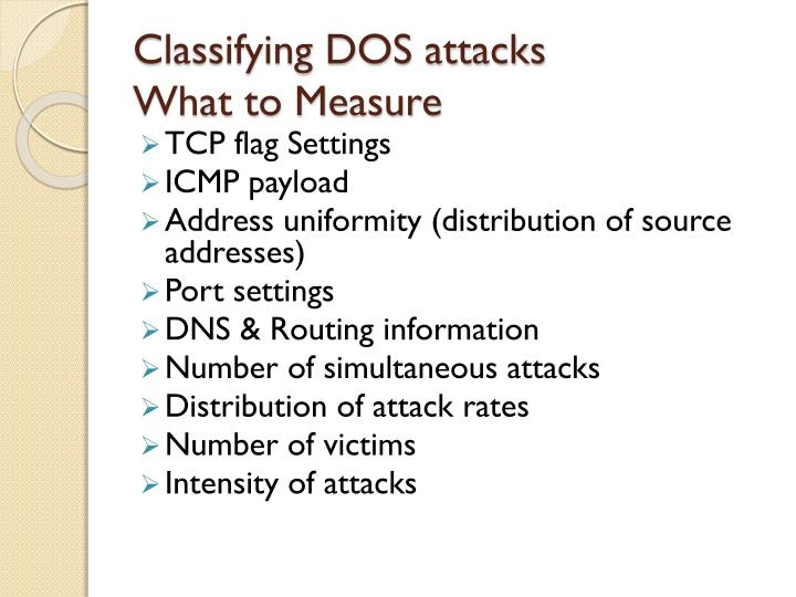 Classifying DOS attacks