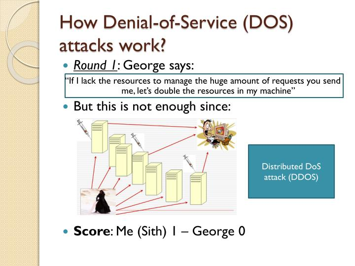 How Denial-of-Service (DOS) attacks work?