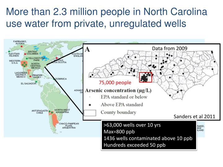 More than 2.3 million people in North Carolina use water from private, unregulated wells