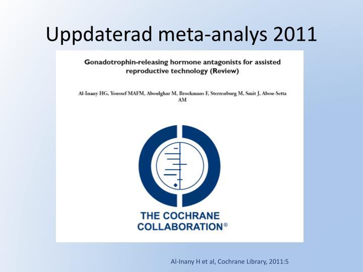 Uppdaterad meta-analys 2011