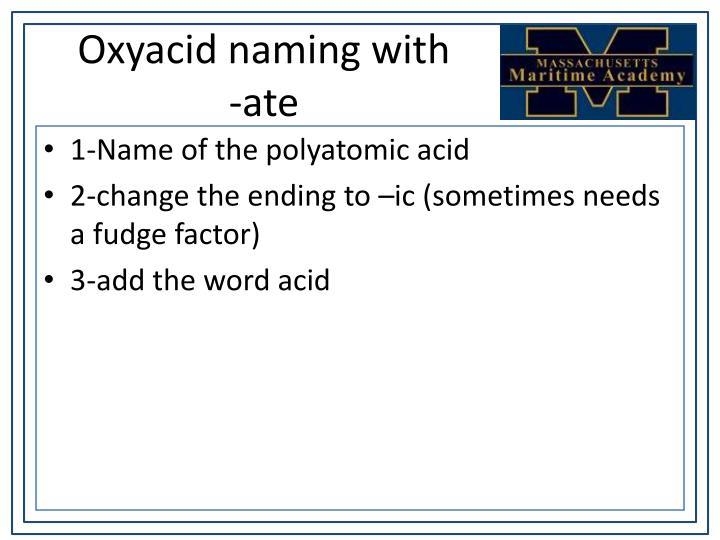 Oxyacid