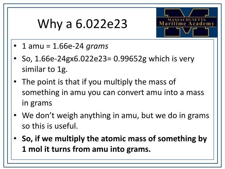 Why a 6.022e23