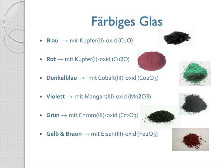Färbiges Glas