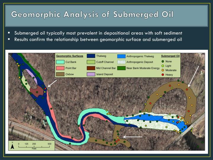 Geomorphic Analysis of Submerged Oil
