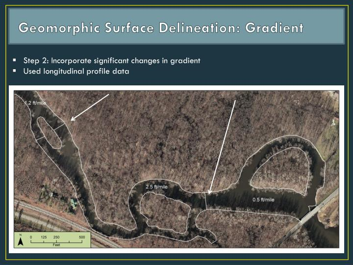 Geomorphic Surface Delineation: Gradient