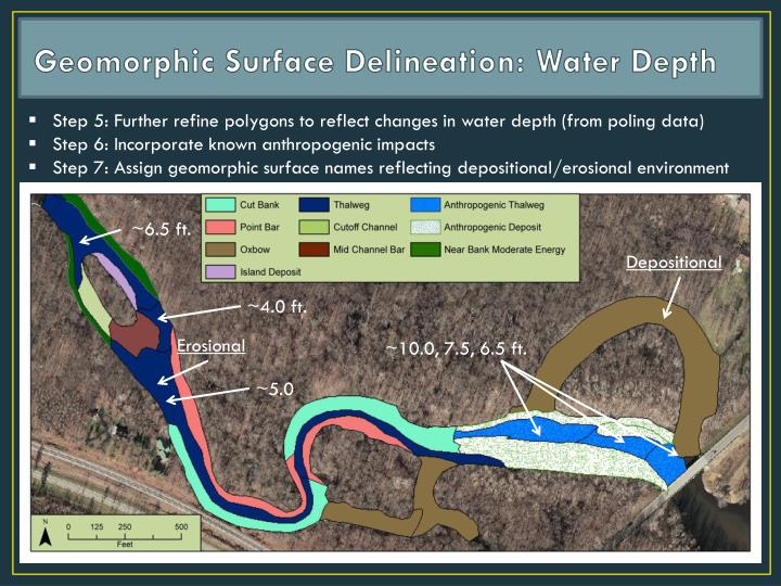 Geomorphic Surface Delineation: Water Depth