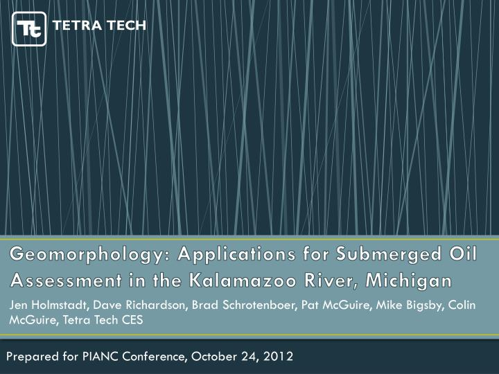 Geomorphology: Applications for Submerged Oil Assessment in the Kalamazoo River, Michigan