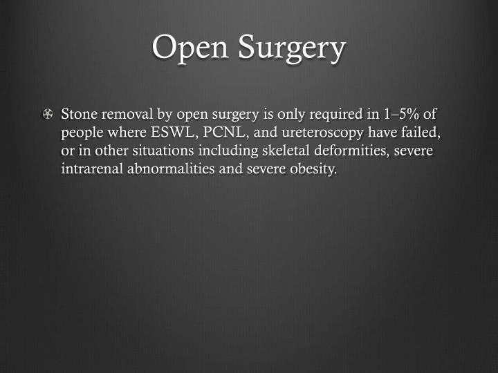 Open Surgery