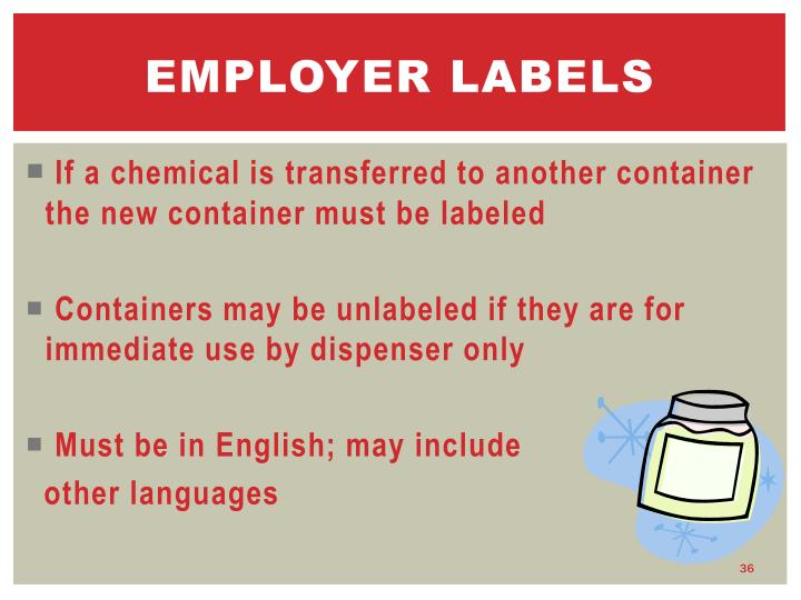 Employer labels