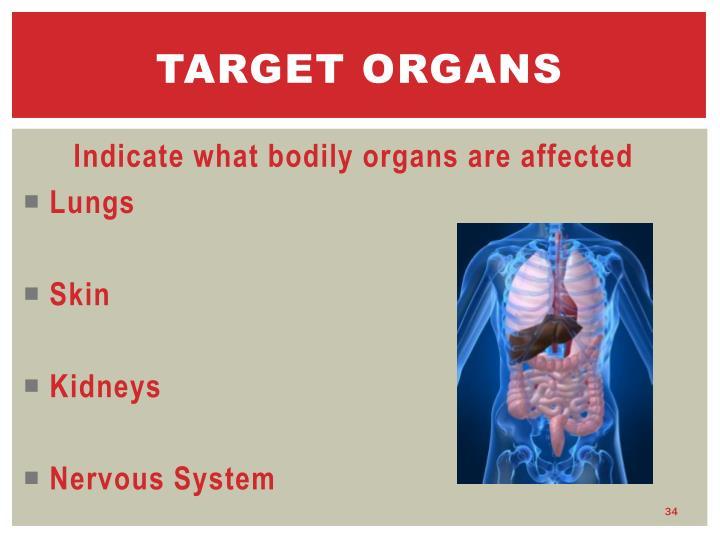 Target organs