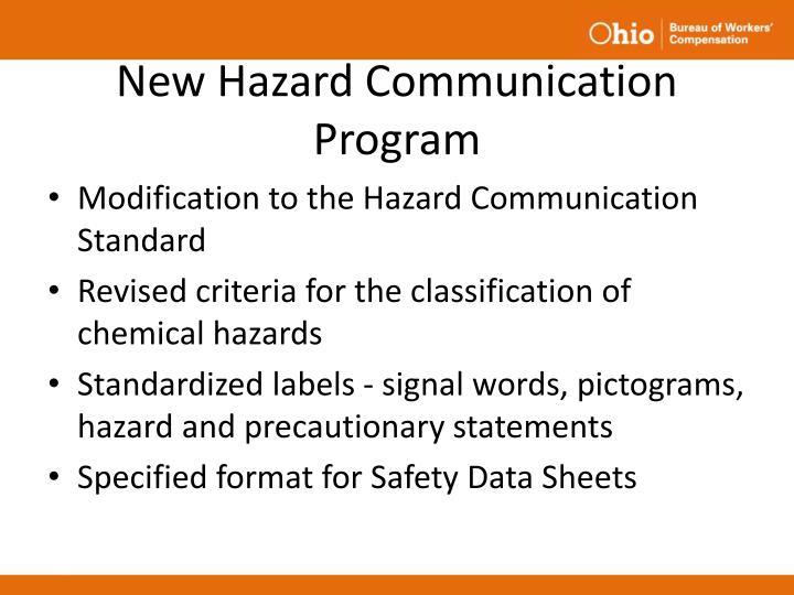 New Hazard Communication Program