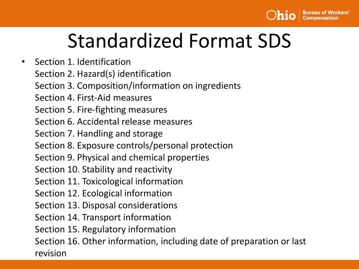 Standardized Format SDS