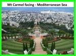mt carmel facing mediterranean sea