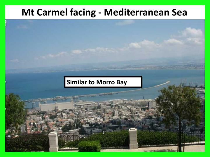 Mt Carmel facing - Mediterranean Sea