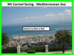 mt carmel facing mediterranean sea1