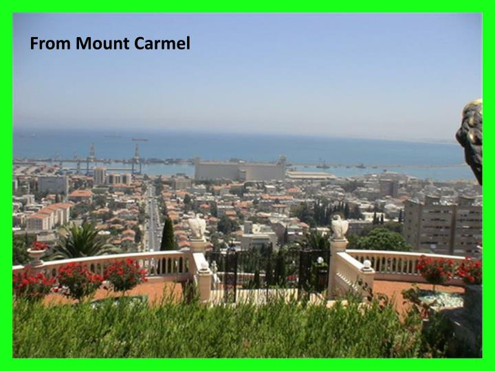 From Mount Carmel
