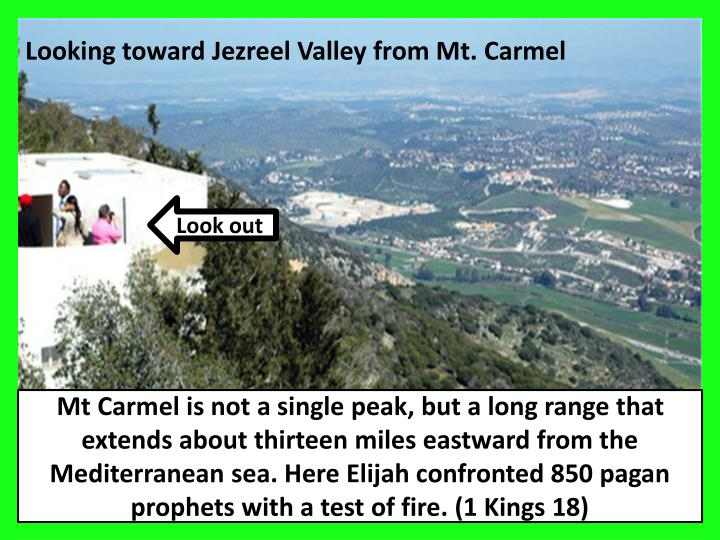 Looking toward Jezreel Valley from Mt. Carmel