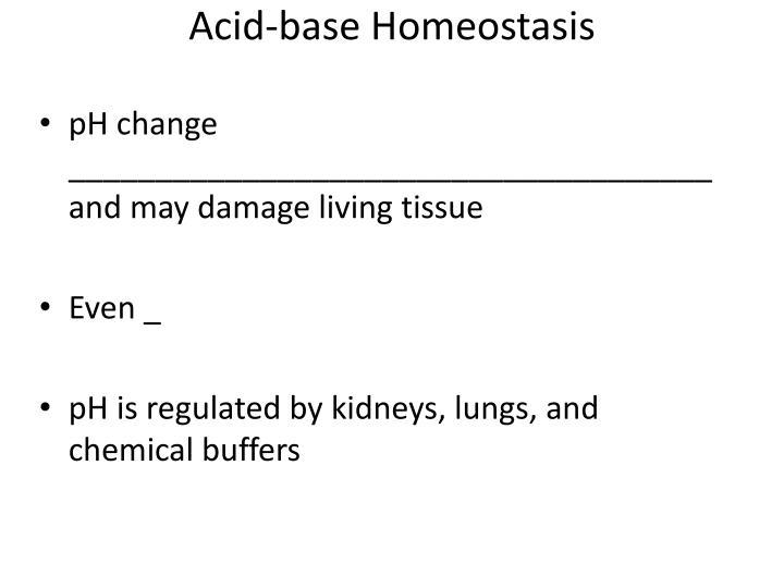 Acid-base Homeostasis