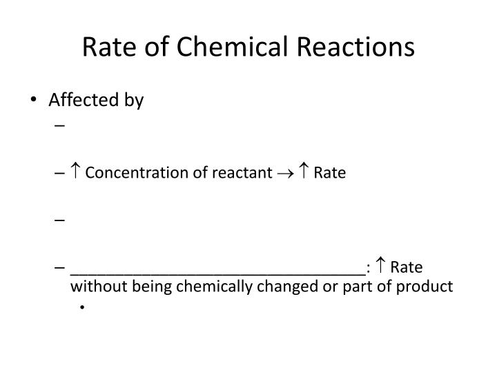 rate of chemical reactions