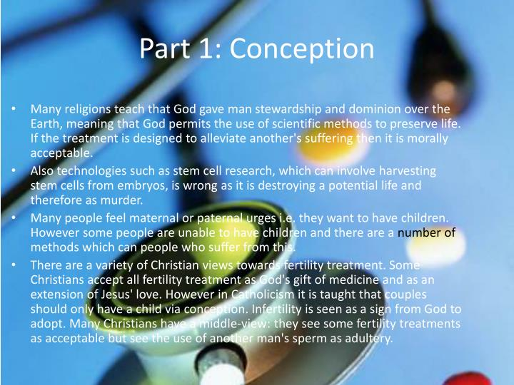 Part 1 conception1
